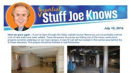 Important Stuff Joe Knows